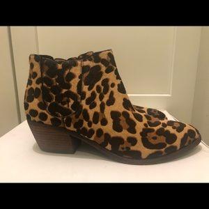 Joie Leopard Print Booties